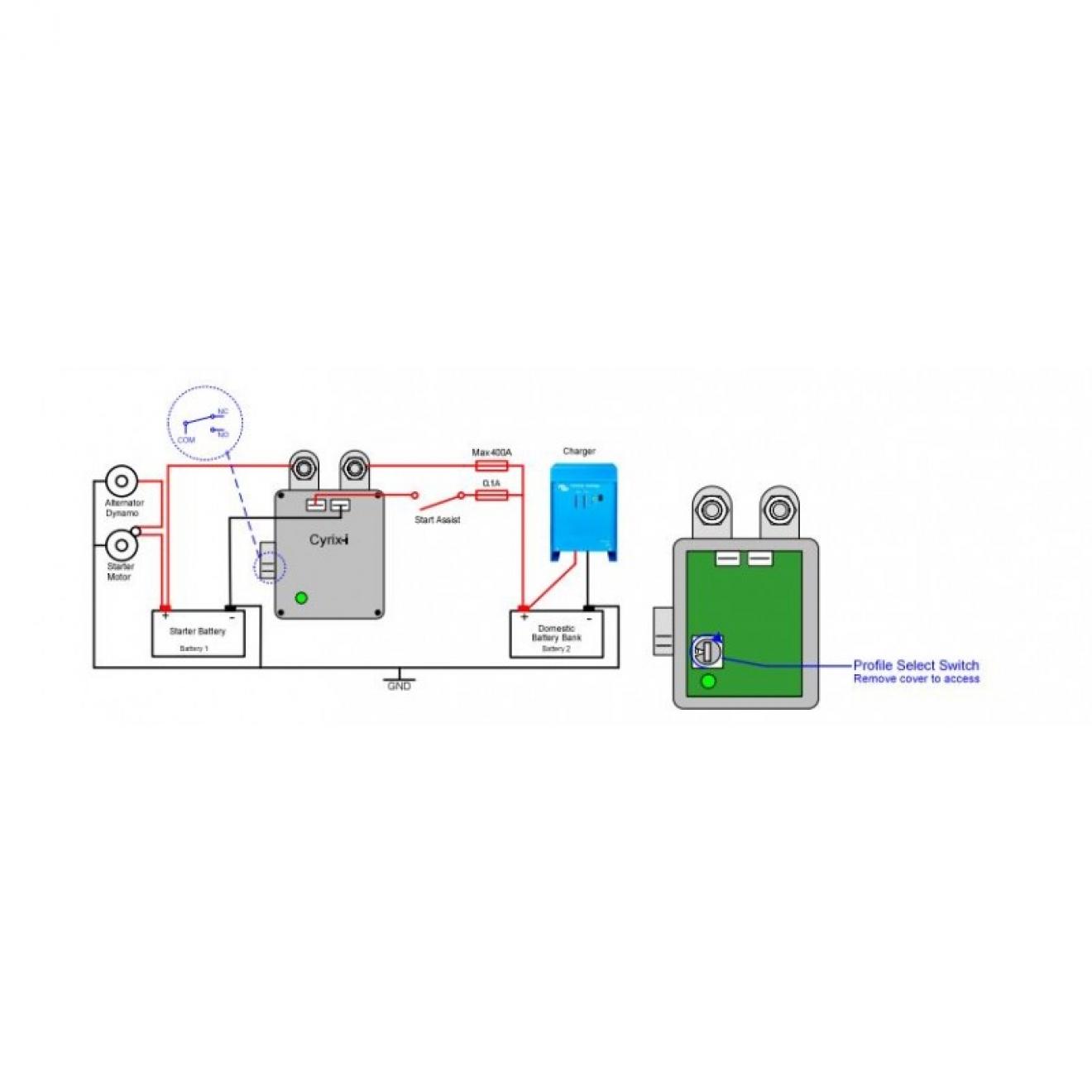 Victron Cyrix-ct 12 24V 230A intelligenter Batteriekoppler Ersatz für Trenndiode